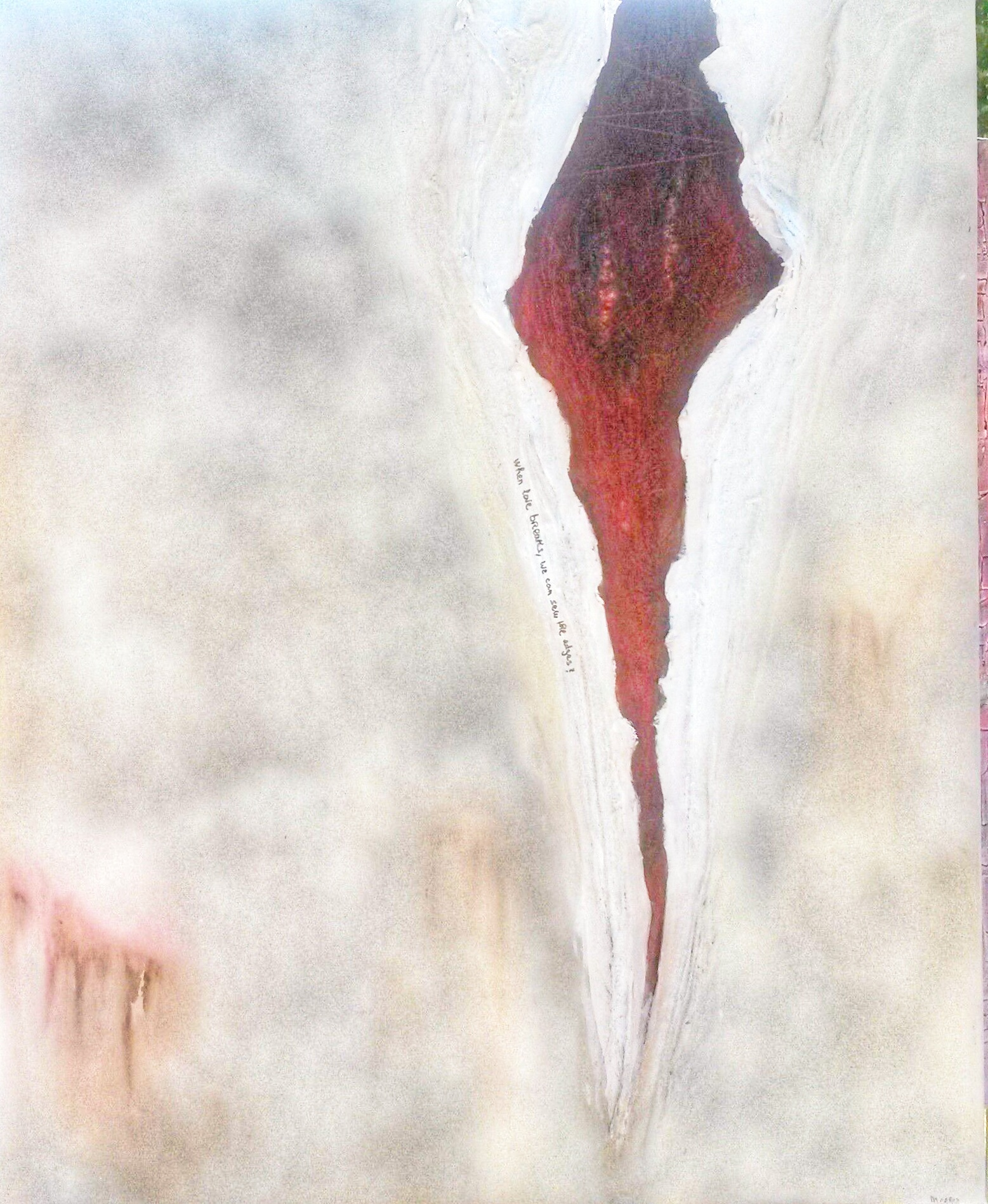 Peinture abstraite sur cicatrice Mireille Cerea artiste peintre