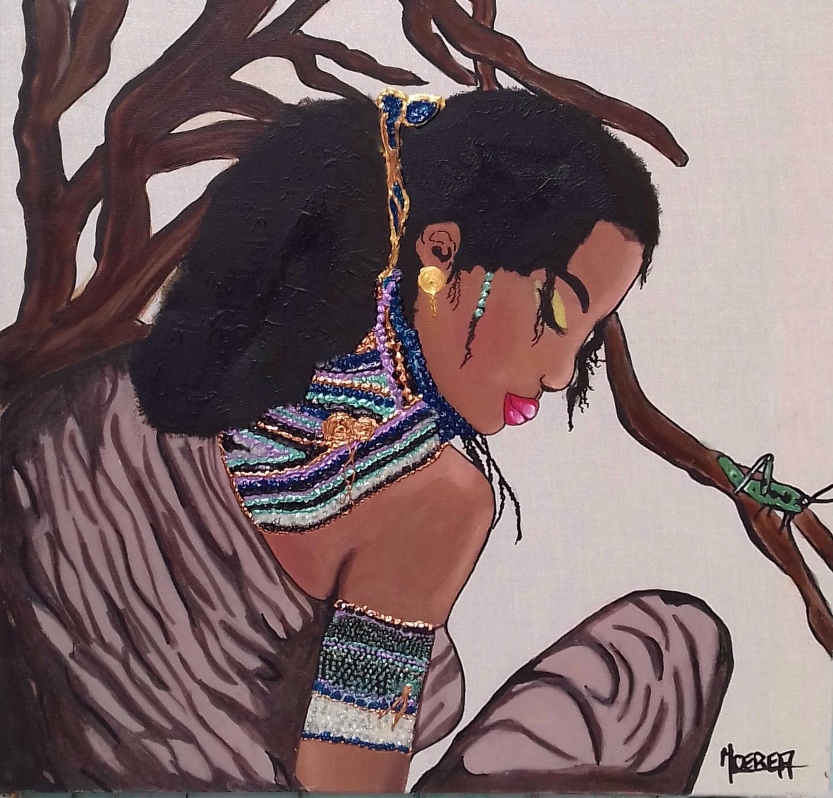 Femme africaine dans la Savane