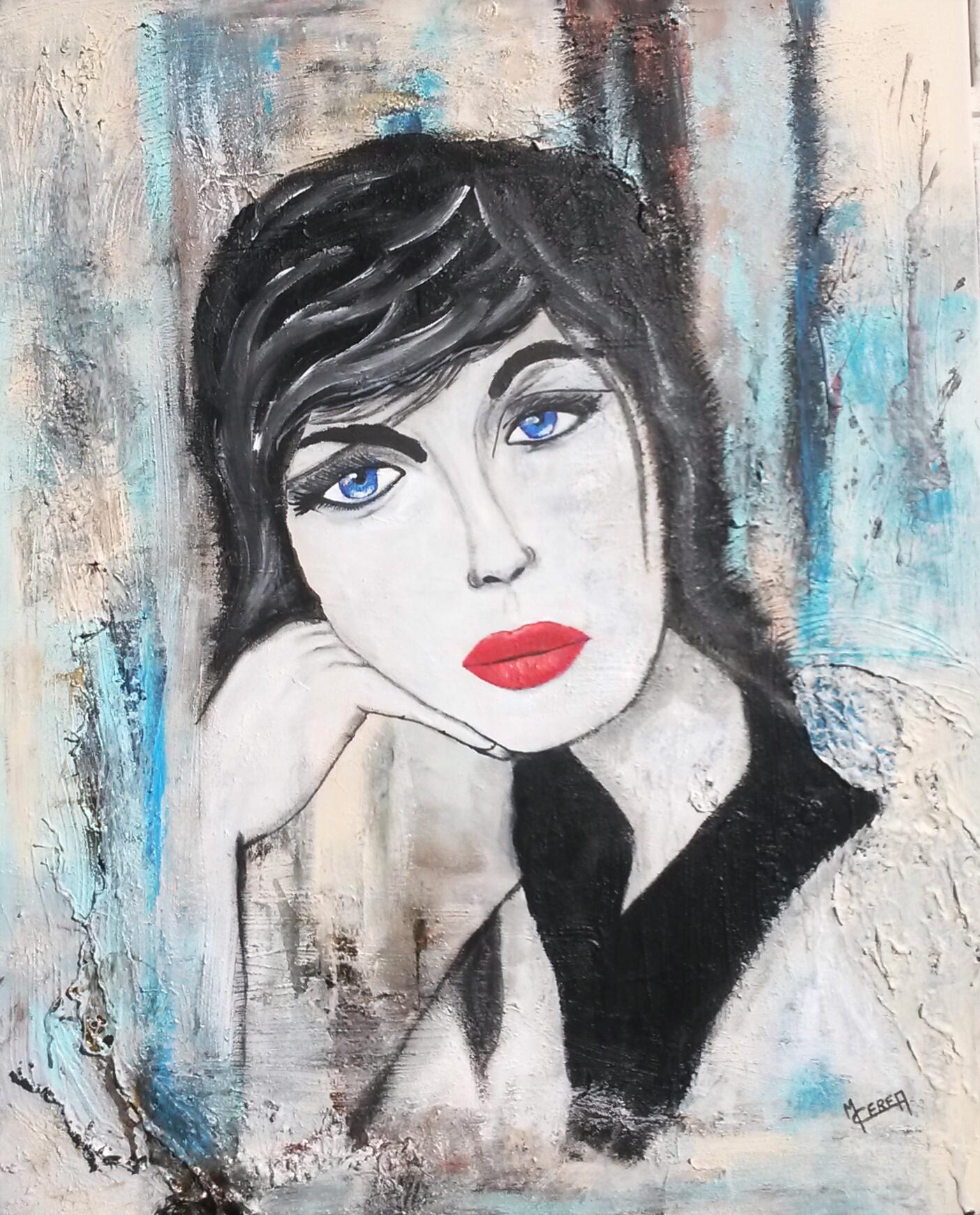 Portrait de femme en attente