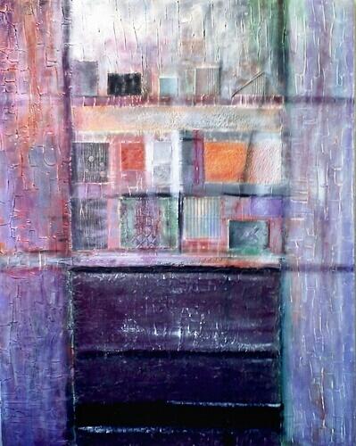Peinture abstraite architecture par Mireille Cerea