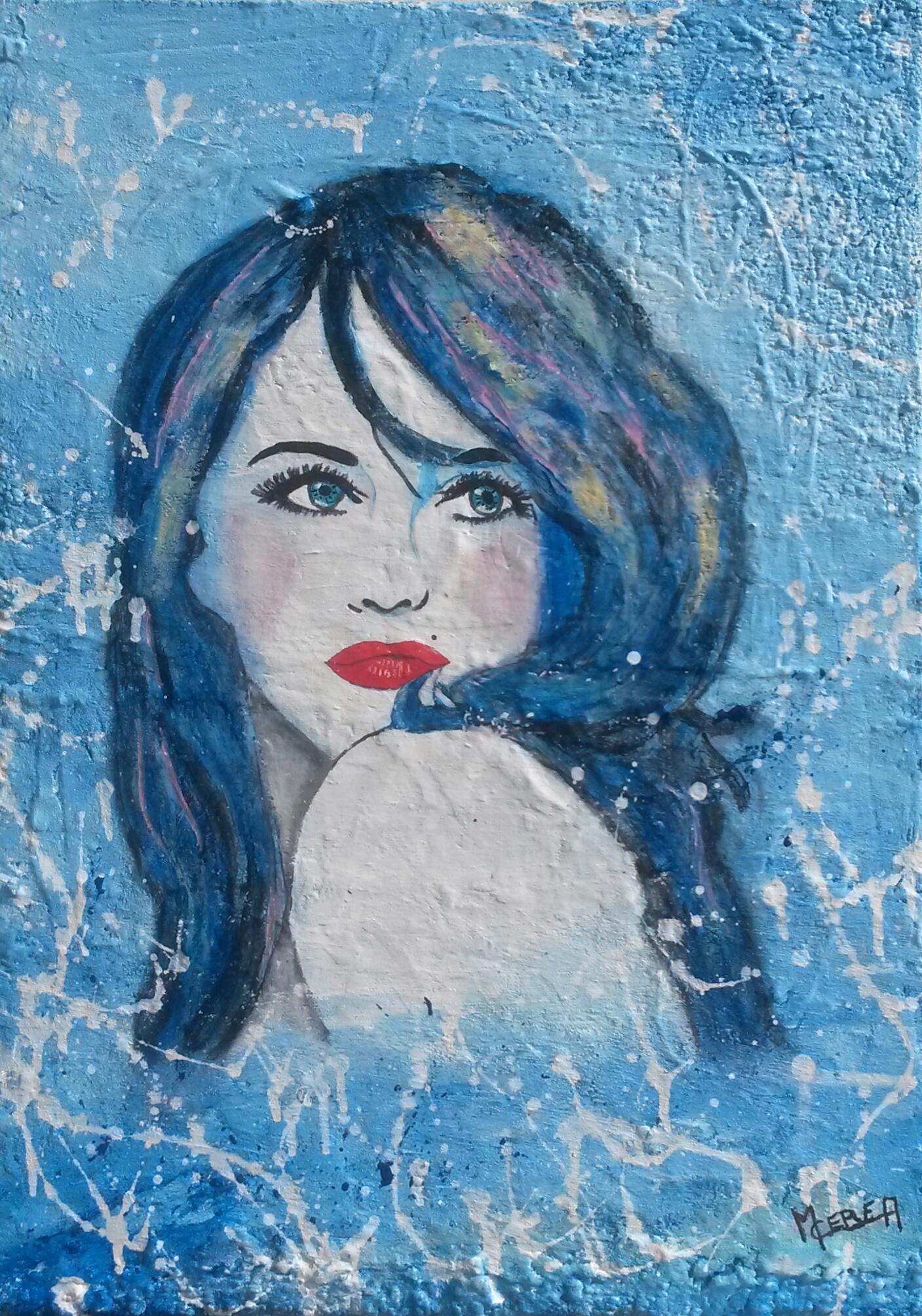 Portrait de femme océan