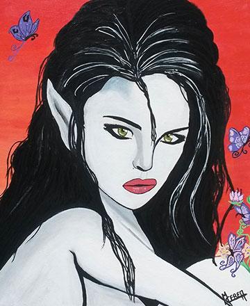Peinture de lutin Mireille Cerea