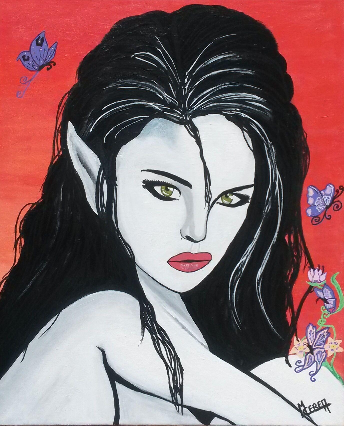 Portrait de femme elfe