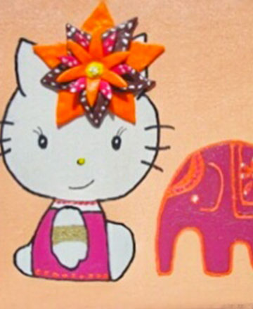 peinture hello kitty