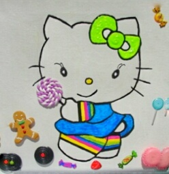 Peinture Hello Kitty gourmande