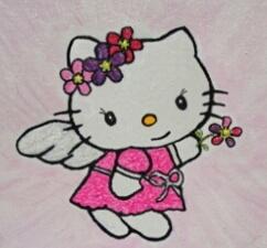 Peinture enfant Hello Kitty ange