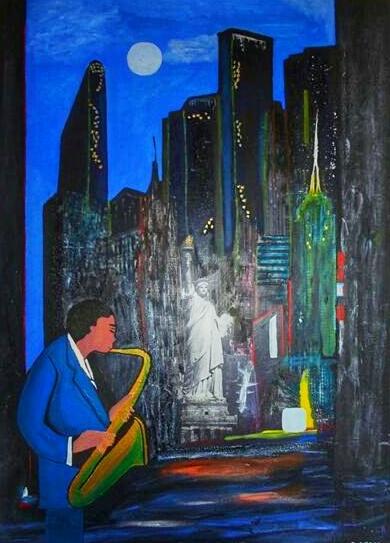 Musicien de jazz à New York