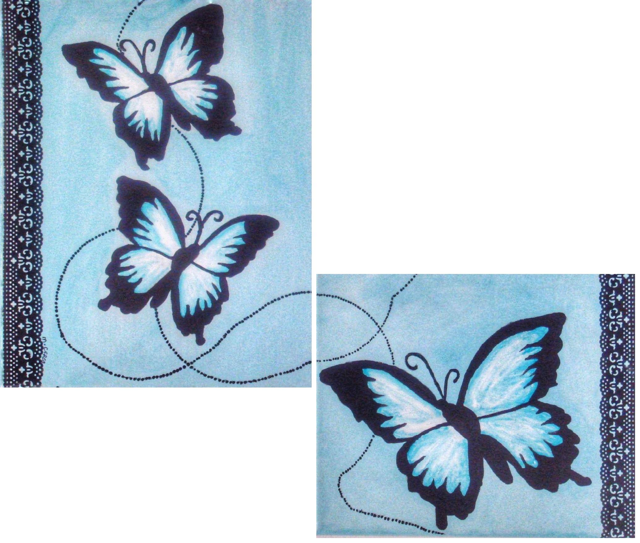 peinture naive papillons