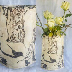 vase blanc et noir